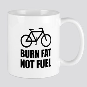 Burn Fat Not Fuel Bike Mugs